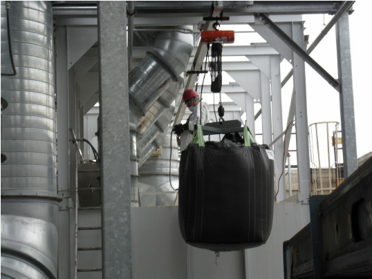 Loading Activated Carbon Into Large Vapor Boxes