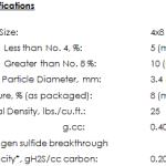 GC Sulfursorb Plus Specs